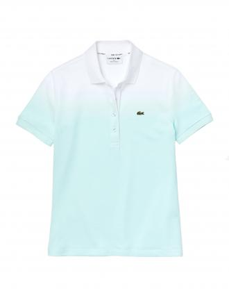 LACOSTE COTTON PIQUE POLO T-SHIRT REGULAR FIT ΓΥΝΑΙΚΕΙΟ ΜΠΛΕ