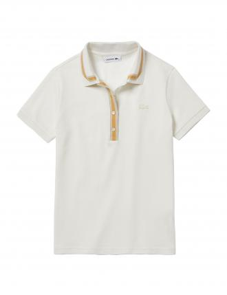 LACOSTE CONTRAST STRETCH COTTON POLO T-SHIRT SLIM FIT