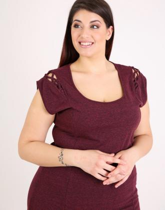 ff47dd6a219d Μπλούζα για μεγάλα μεγέθη σε ζέρσεϊ.Το μοντέλο φοράει  XLΎψος μοντέλου  170  cm