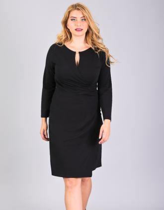 6c6b0b137a5b Κρουαζέ φόρεμα για μεγάλα μεγέθη με κλειδαρότρυπα εμπρός