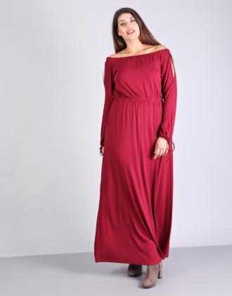 14aed03e417a Έξωμο μάξι φόρεμα για μεγάλα μεγέθη