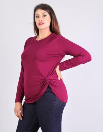 Μπλούζα για μεγάλα μεγέθη με κόμπο στο πλάϊ e44546f69c1