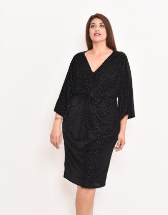 Ντεβορέ άνιμαλ φόρεμα για μεγάλα μεγέθη με κόμπο εμπρός fa9b8c036f6