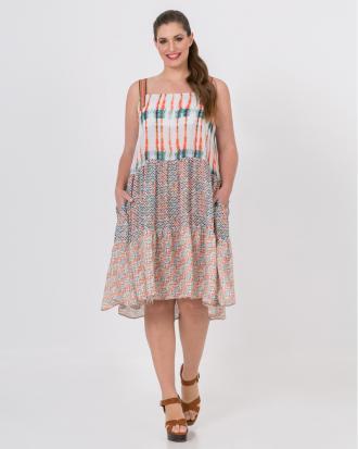 d505fdf44c07 Εμπριμέ φόρεμα tie dye (Πορτοκαλί