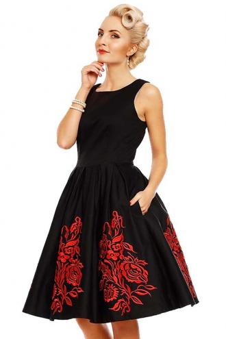 vintage occasion φόρεμα fancy Annie black   red 397dae39230