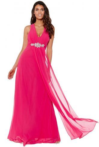 be16b9247071 αέρινο princess maxi φόρεμα σε cerise φούξια