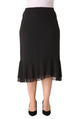 Midi φούστα από ελαστική κρεπ ύφανση f8c75586820