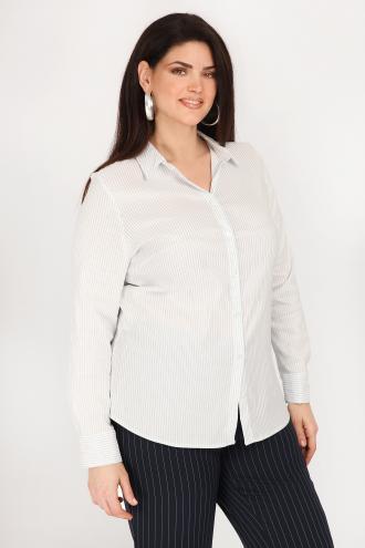 8a0a782ddd21 Ριγέ πουκάμισο από υψηλής ποιότητας βαμβάκι. Mε πατιλέτα με κουμπιά