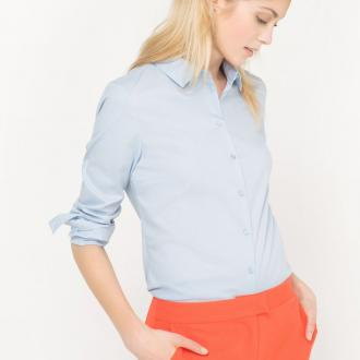 65c466770e Εφαρμοστό πουκάμισο με κουμπιά και κουμπωτή μανσέτα. Λεπτομέρειες προϊόντος  Ύφασμα  69% βαμβάκι