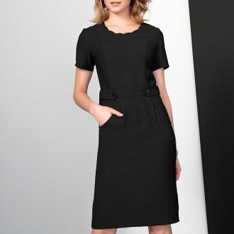 Κοντομάνικο φόρεμα σε ίσια γραμμή. Πολύ θηλυκό και κομψό φόρεμα για άψογη  εμφάνιση a3a33f261ca