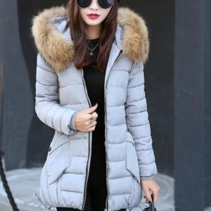 Μπουφάν πουπουλένιο με γούνα
