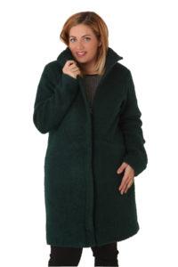 Μπουκλέ παλτό με ψηλό γιακά