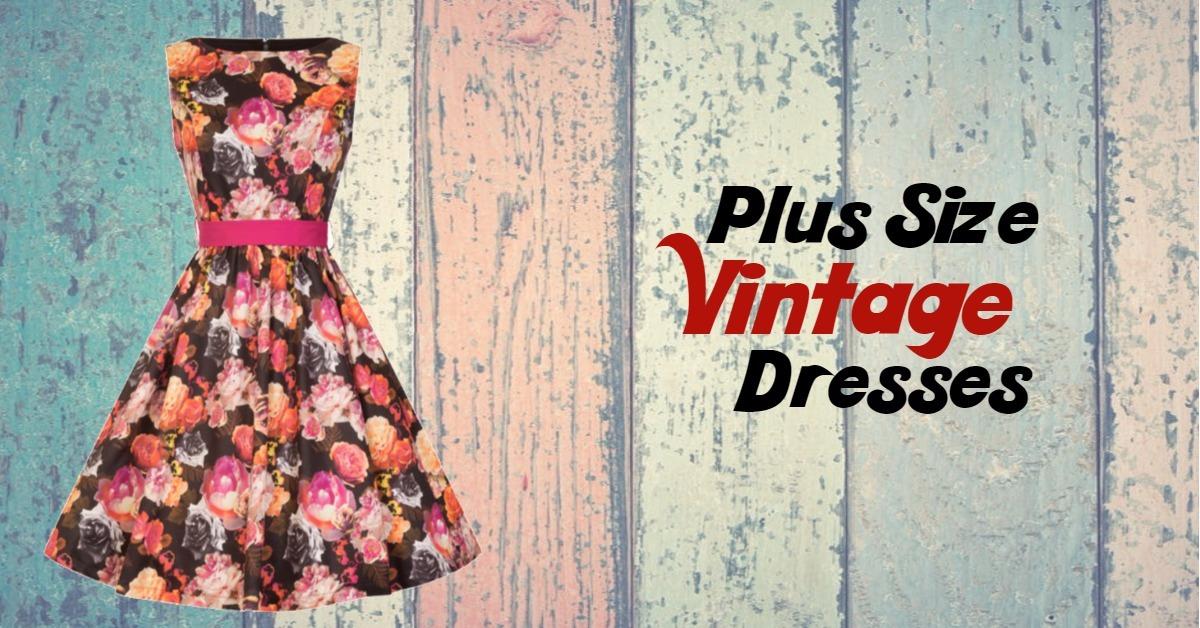 Vintage φορέματα σε μεγάλα μεγέθη