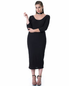 Curvy μίντι φόρεμα