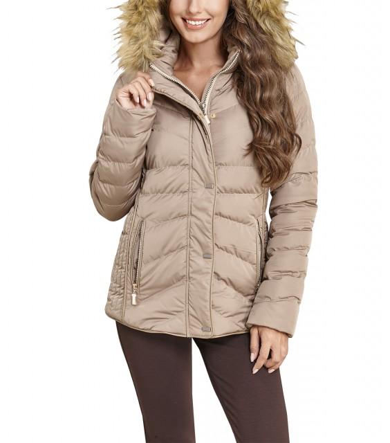 0fbe3103256 Μπεζ Μπουφαν με γούνα - SizePlusOnly Fashion Blog