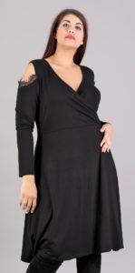 Έξωμο κρουαζέ κλος φόρεμα