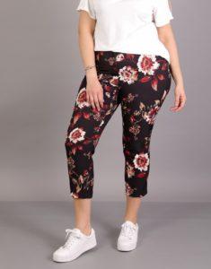 Crop παντελόνι σε τυπωμένο φλοράλ