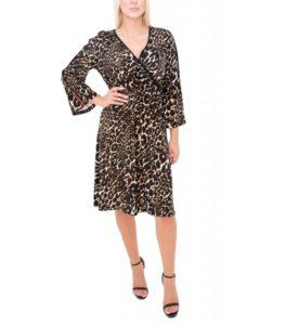 Κρουαζέ λεοπάρ φόρεμα