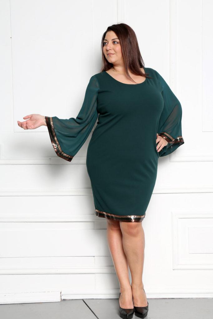 Φόρεμα μουσελίνα μανίκια MarieDore
