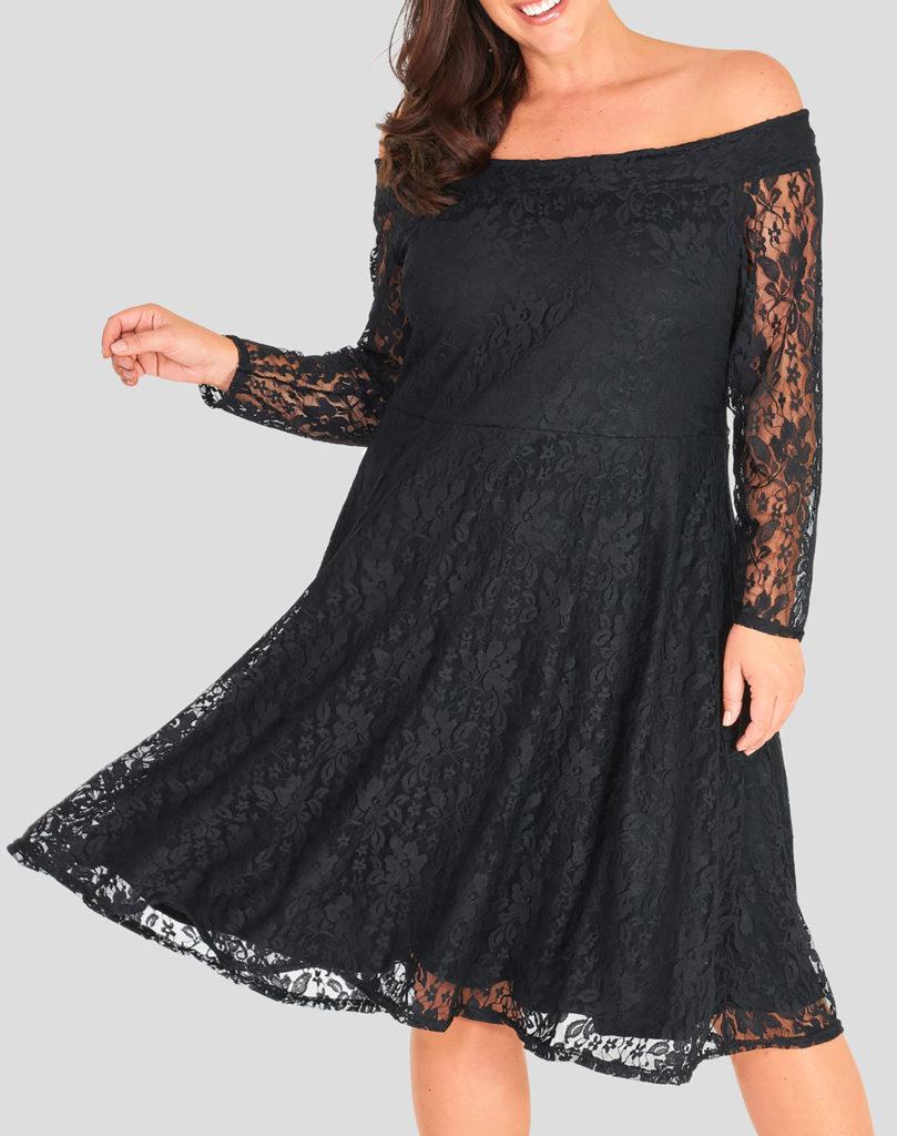 Δαντελένιο Έξωμο Φόρεμα Maniags