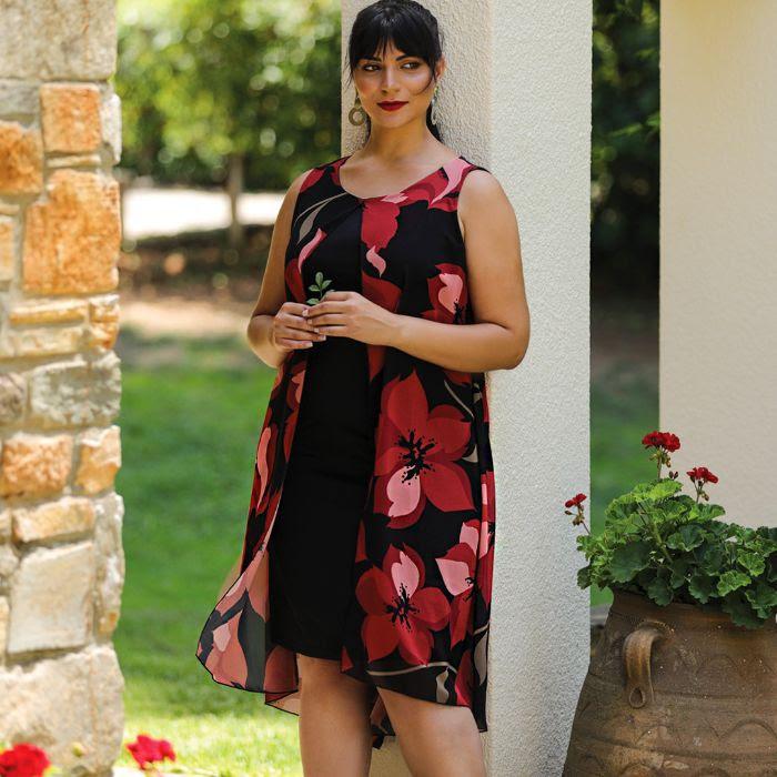 Φόρεμα με Διπλό Ύφασμα | 60€ από 75€