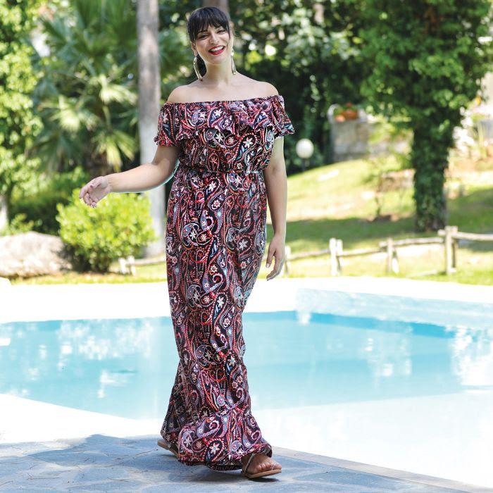 Μάξι Φόρεμα σε Λαχούρ Τύπωμα | 44€ από 55€