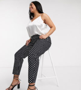 Daisy Street Plus cigarette trousers in polka dot
