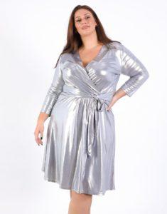 Κρουαζέ Μεταλλικό Κλος Φόρεμα