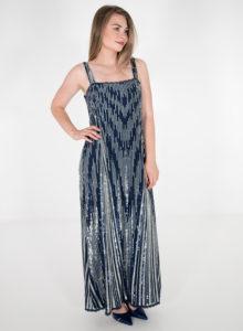 Αμπιγιέ μπλε φόρεμα με παγιέτες