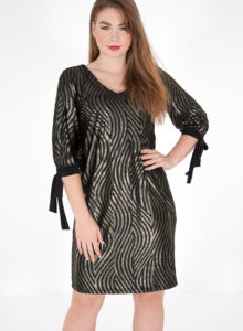 Εντυπωσιακό μαύρο χρυσό φόρεμα