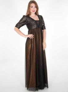 Μάξι εντυπωσιακό αμπιγιέ φόρεμα